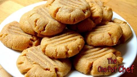 3 Ingredient Peanut Butter Cookies | One Pot Chef