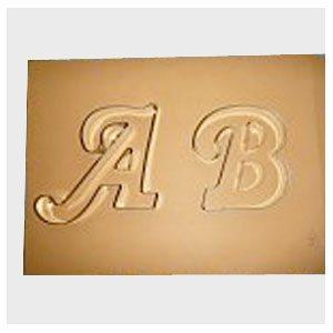 letter b cookie cutter fancy