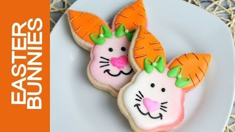 EASTER BUNNY COOKIE DECORATING TUTORIAL.