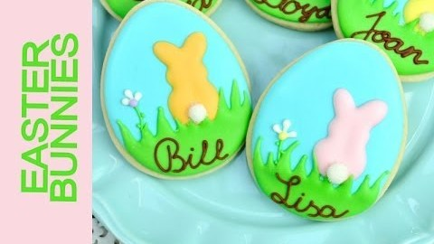 EASTER TABLE SETTING BUNNY COOKIES