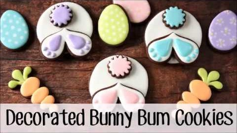 Bunny Bum Decorated Sugar Cookies for Easter